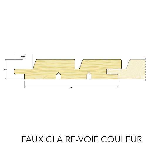 BARDAGE FAUX CLAIRE-VOIE EPICEA COULEUR 20x175mm