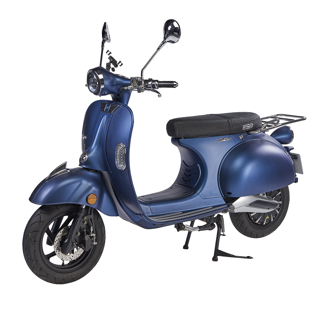 Image PinkStyle (50cc) Bleu Diesel + batterie Lithium 2,1 kWh + chargeur 72V5A Bleu Diesel