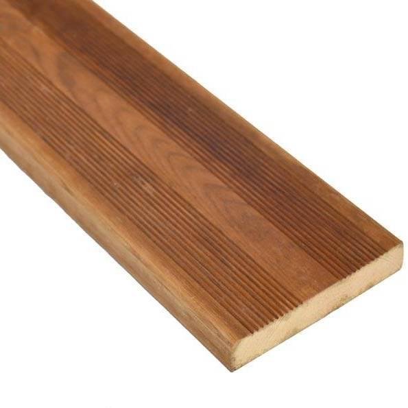 Lame de terrasse bois Pin Sylvestre traité classe 4 brun