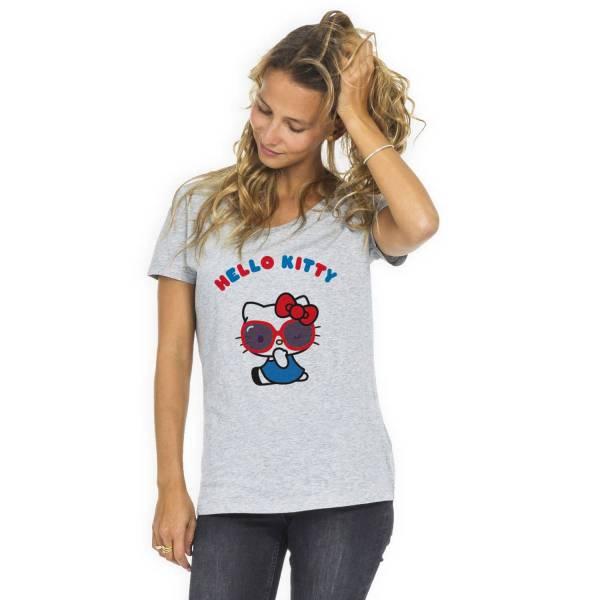 T Shirt Femme Blanc Hello Kitty Aloha Xs Le Roi Du Tshirt