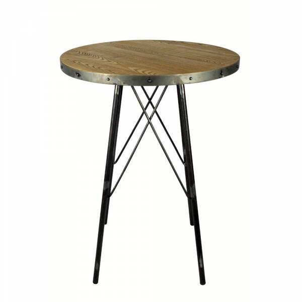 table de bar plateau rond staten m tal naturel redcartel. Black Bedroom Furniture Sets. Home Design Ideas